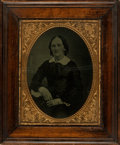 Books:Prints & Leaves, Framed Full Plate Ambrotype Portrait of Unidentified Woman. [n.d., circa mid nineteenth-century]. ...