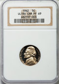 Proof Jefferson Nickels: , 1962 5C PR69 Ultra Cameo NGC. NGC Census: (27/0). PCGS Population (56/0). Numismedia Wsl. Price for problem free NGC/PCGS ...