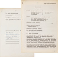 "Featured item image of The First Recording Contract Signed By The Beatles, For The ""My Bonnie"" Session (Germany, 1961)...."