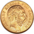 German States:Saxony, German States: Saxony. Albert gold 10 Mark 1900-E MS66 NGC,...