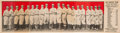 Baseball Cards:Singles (Pre-1930), Extremely Rare 1910 E221 Bishop & Co. Los Angeles Angels (Red)PCL Team Card. ...