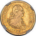 Mexico, Mexico: Charles IV gold Escudo 1793 Mo-FM XF Details (ObverseScratched) NGC,...
