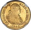 Mexico, Mexico: Charles IV gold Escudo 1804 Mo-TH MS63 NGC,...