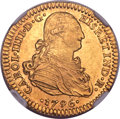 Mexico, Mexico: Charles IV gold 2 Escudos 1796 Mo-FM AU Details (SurfacesHairlines) NGC,...