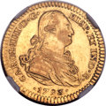 Mexico, Mexico: Charles IV gold 2 Escudos 1793 Mo-FM AU Details (SurfaceHairlines) NGC,...