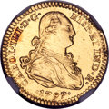 Mexico, Mexico: Charles IV gold 2 Escudos 1797 Mo-FM AU Details (Removedfrom Jewelry) NGC,...