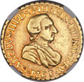 Mexico, Mexico: Charles III gold 2 Escudos 1761/0 Mo-MM VF Details (ObverseDamage) NGC,...