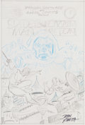 Original Comic Art:Miscellaneous, John Romita Sr. Doctor Doom's Revenge #1 Cover PreliminaryArtwork Spider-Man and Captain America Original Art (Ma...