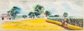 "Movie/TV Memorabilia:Original Art, A Pre-Production Set Painting from ""Oklahoma!""..."
