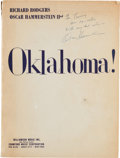 """Movie/TV Memorabilia:Autographs and Signed Items, An Oscar Hammerstein Signed Booklet of Sheet Music from""""Oklahoma!,"""" Circa 1955...."""
