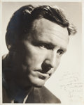 Movie/TV Memorabilia:Autographs and Signed Items, A Spencer Tracy Signed Black and White Photograph, 1946....