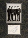 Music Memorabilia:Autographs and Signed Items, Beatles Early Signatures On A Star-Club Promo Photo in Matted Display (Shrewsbury, December 14, 1962)....