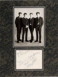 Beatles Early Signatures On A Star-Club Promo Photo in Matted Display (Shrewsbury, December 14, 1962)