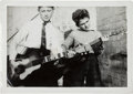 Music Memorabilia:Photos, Beatles - An Early Vintage Photograph of George Harrison and HisFriend Arthur Kelly (UK, 1957)....