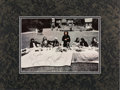 "Music Memorabilia:Autographs and Signed Items, Beatles - George Harrison Signed ""Last Supper"" Parody Photograph ina Matted Display (1973). ..."
