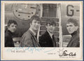 Music Memorabilia:Autographs and Signed Items, Beatles - Star-Club Photo Signed by John Lennon in Matted Displaywith a Signature of George Harrison (Circa Late-1962)....