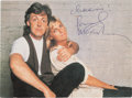 Music Memorabilia:Autographs and Signed Items, Beatles - Paul and Linda McCartney Signed Color Photo. ...