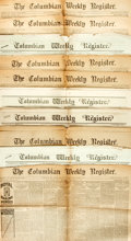Books:Periodicals, [Periodicals]. [Newspapers]. Group of Ten Issues of TheColumbian Weekly Register. New Haven, CT:, 1860-1886. ...