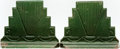 Books:Furniture & Accessories, [Bookends]. Pair of Matching Green Art Deco Bookends. Unsigned,undated.... (Total: 2 Items)