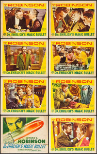 """Dr. Ehrlich's Magic Bullet (Warner Brothers, 1940). Lobby Card Set of 8 (11"""" X 14""""). Drama. ... (Total: 8 Item..."""
