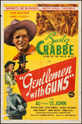 "Movie Posters:Western, Gentlemen with Guns (PRC, 1946). One Sheet (27"" X 41""). Western.. ..."