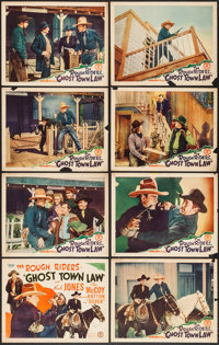 "Ghost Town Law (Monogram, 1942). Lobby Card Set of 8 (11"" X 14""). Western. ... (Total: 8 Items)"