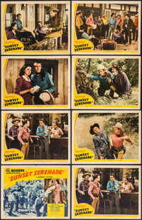 "Sunset Serenade (Republic, 1942). Title Lobby Card & Lobby Cards (7) (11"" X 14""). Western. ... (Total:..."