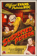 """Movie Posters:Crime, Suspected Person (PRC, 1943). One Sheet (27"""" X 41""""). Crime.. ..."""