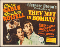 "They Met in Bombay (MGM, 1941). Title Lobby Card (11"" X 14""). Adventure"