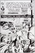 Original Comic Art:Covers, Bruce McCorkindale Strange Tales #138 Cover RecreationOriginal Art (2013)....