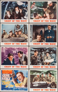 "Crest of the Wave (MGM, 1954). Lobby Card Set of 8 (11"" X 14""). Drama. ... (Total: 8 Items)"