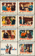 "Movie Posters:Comedy, Dreamboat (20th Century Fox, 1952). Lobby Card Set of 8 (11"" X14""). Comedy.. ... (Total: 8 Items)"