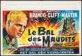 """Movie Posters:War, The Young Lions (20th Century Fox, 1958). Belgian (14.75"""" X21.75""""). War.. ..."""