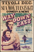 "Movie Posters:Drama, Way Down East (20th Century Fox, 1935). Window Cards (3) (14"" X22""). Drama.. ... (Total: 3 Items)"