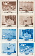 "Movie Posters:Animation, Dumbo (Buena Vista, R-1959). Lobby Card Sets of 4 (11"" X 14"") Blue& Brown Styles. Animation.. ... (Total: 8 Items)"