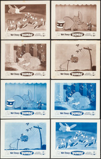 "Dumbo (Buena Vista, R-1959). Lobby Card Sets of 4 (11"" X 14"") Blue & Brown Styles. Animation. ... (Tot..."