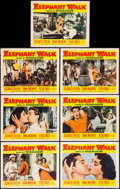 "Movie Posters:Adventure, Elephant Walk (Paramount, 1954 & R-1960). Lobby Cards (7),Lobby Card Set of 8 (11"" X 14""), & One Sheet (27"" X 41"").Adventu... (Total: 16 Items)"