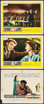 "Elmer Gantry & Other Lot (United Artists, 1960). Title Lobby Card & Lobby Cards (2) (11"" X 14""..."
