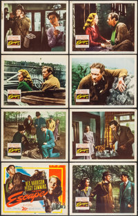 "Escape (20th Century Fox, 1948). Lobby Card Set of 8 (11"" X 14""). Thriller. ... (Total: 8 Items)"