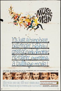 """The Music Man (Warner Brothers, 1962). One Sheet (27"""" X 41"""") and Lobby Cards (6 ) (11"""" X 14""""). Music..."""