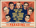 "Movie Posters:Hitchcock, The Paradine Case (Selznick, 1948). Half Sheet (22"" X 28"") Style A.Hitchcock.. ..."