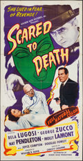 "Movie Posters:Horror, Scared to Death (Screen Guild Productions, 1947). Three Sheet (41""X 79""). Horror.. ..."
