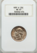 Washington Quarters, 1955-D 25C MS67 NGC....
