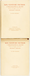 Books:Reference & Bibliography, Michael Sadleir. XIX Century Fiction. A Bibliographical RecordBased on His Own Collection. London: Constable & Co L...(Total: 2 Items)