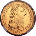 Mexico, Mexico: Charles III gold 2 Escudos 1767 Mo-MF XF Details (Plugged)NGC,...