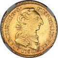 Mexico, Mexico: Charles III gold 2 Escudos 1768 Mo-MF XF Details(Scratches) NGC,...