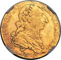 Mexico, Mexico: Charles III gold 4 Escudos 1767 Mo-MF VF Details (RimFiling) NGC,...