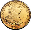 Mexico, Mexico: Charles III gold 4 Escudos 1776 Mo-FM XF Details (Polished)NGC,...