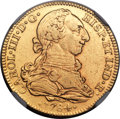Mexico, Mexico: Charles III gold 4 Escudos 1784/3 Mo-FM VF Details (MountRemoved) NGC,...