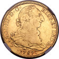 Mexico, Mexico: Charles III gold 4 Escudos 1787 Mo-FM VF Details (ExcessiveSurface Hairlines) NGC,...